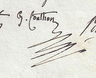 Georges Couthon - Image: Couthon signature, French politician during the French Revolution