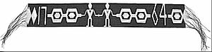 Treaty of Fort Niagara - The Covenant Chain Wampum presented by Sir William Johnson to the assembled Nations at the conclusion of the Council of Niagara (1764)