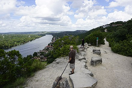 View of the Colorado River from Covert Park at Mount Bonnell Covert Park at Mount Bonnell 20160905130602.jpg