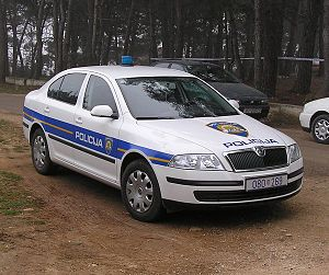 Law enforcement in Croatia - Image: Croatian police car (02)