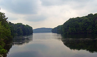 Cross River Reservoir - East end of the reservoir