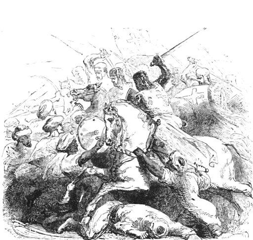 Crusaders battle