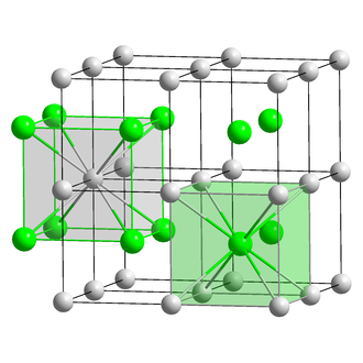 Caesium chloride - Image: Cs Cl polyhedra