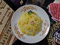 Cuisine of Iran آشپزی ایرانی 06 - میگو سرخ شده با پلو.jpg