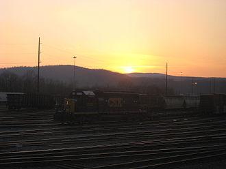 Cumberland Subdivision - CSX Locomotive waiting in the Cumberland Subdivision Yard