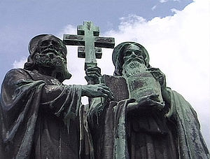 Christianity in the 9th century - St. Cyril and St. Methodius Monument on Mt. Radhošť