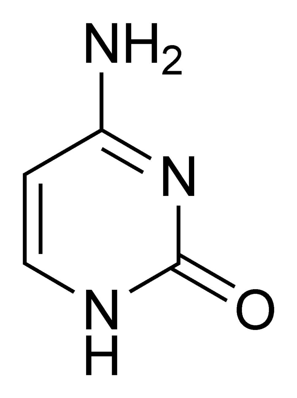Cytosine chemical structure
