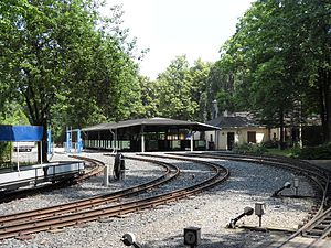 Dresden Park Railway - The Parkeisenbahn car sheds