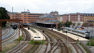 Aalborg station - View of the tracks and platforms