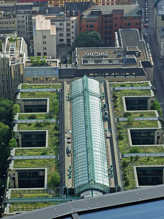 Telhado verde em edifícios