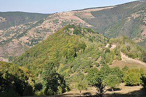 Dacian fortress of Căpâlna - Panoramic view from south-west of fortress hill