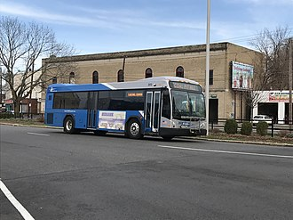Housatonic Area Regional Transit - New logo on top, old logo on bottom  A 2014 Gillig BRT Diesel operating on Route 5 to Bethel Center in Danbury.