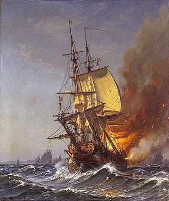 1710 in Sweden - Dannebroge caught on fire
