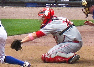 David Ross (baseball) - Ross playing for the Cincinnati Reds in 2008