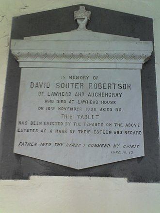 Auchengray - David Souter Robertson Plaque