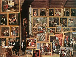 Portrait of Jacopo Strada - Image: David Teniers (II) The Gallery of Archduke Leopold in Brussels WGA22066