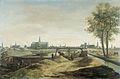 De bouw van nieuwe vestingwerken voor Haarlem, met op de achtergrond de St. Bavokerk, 1671 Rijksmuseum Amsterdam SK-C-1655.jpg