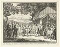 De veldmaarschalken de Chatellon en de Brezé begroeten prins Frederik Hendrik, 1632 Les Maréchaux de Chatillon et de Brezé saluent le Prince comme Generalissime des Troupes de France (titel op object), RP-P-OB-51.245.jpg
