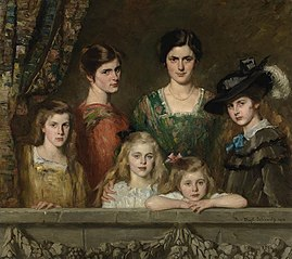 The six daughters of Charles E. H. Boissevain and his wife Maria Barbera Pijnappel