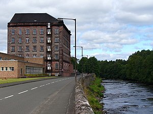 Deanston - Deanston Distillery and the River Teith