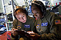Defense.gov News Photo 110630-F-AZ553-143 - U.S. Air Force Staff Sgt. Donna Francis an aeromedical evacuation technician and flight nurse Capt. Clementine Duke both with the 86th.jpg