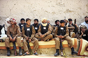 Afghan Local Police - Afghan Local Police officers during a graduation ceremony in May 2012