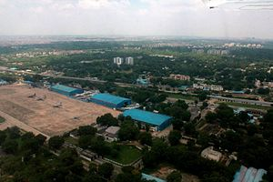 Indian Air Force Museum, Palam - Delhi aerial photo including Indian Air Force Museum, Palam