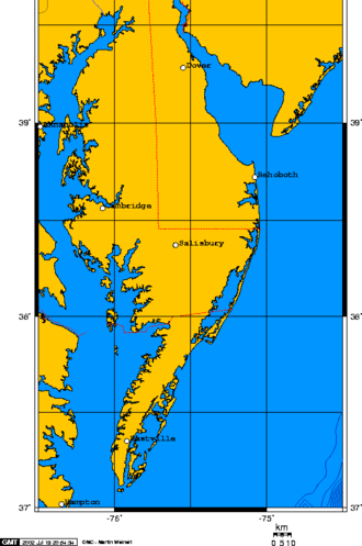 Delmarva Peninsula - Delmarva Peninsula map