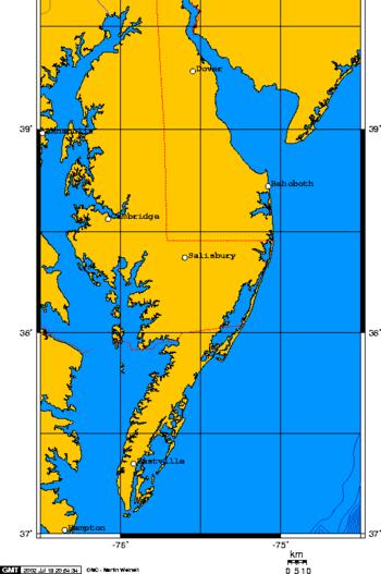 Delmarva Peninsula map