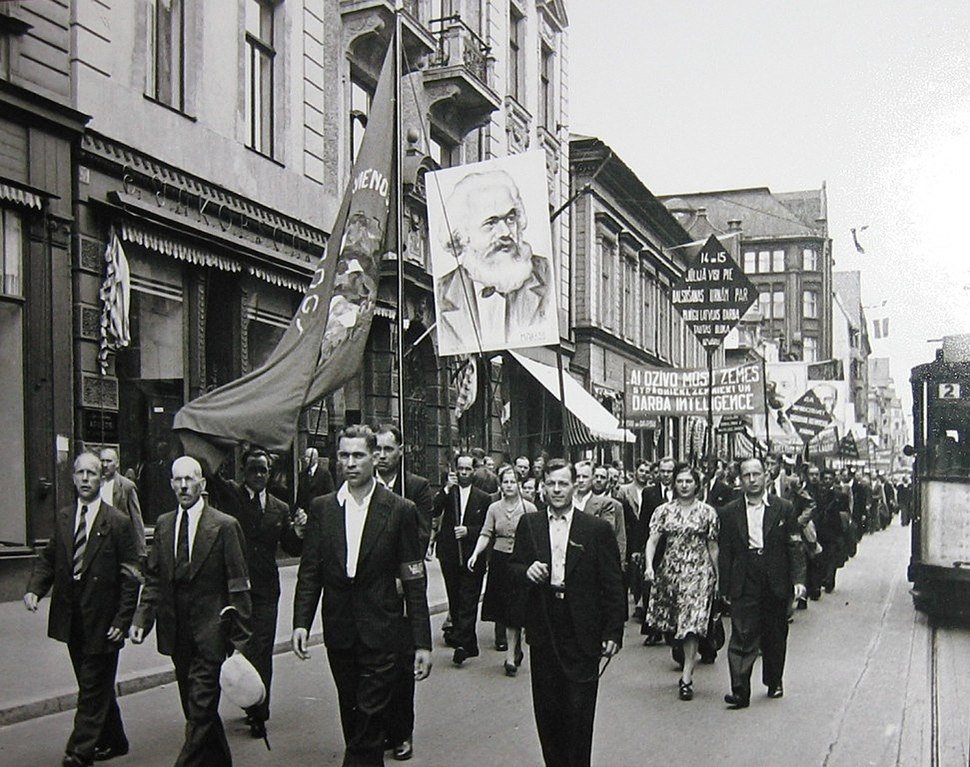 Demonstration in Riga. 1940 in Latvia. 013
