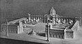 Der Düsseldorfer Kunstpalast und seine geplanten Vorbauten (1914) mit Brunnen und Siegessäulen vor dem Ausstellungspalast.jpg