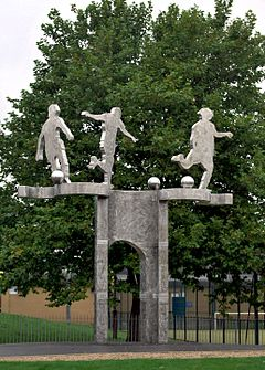 Derby Former Baseball Ground Commemoration by Denis O'Connor.JPG