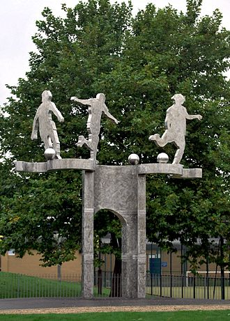 Derby County F.C. - Derby County's former Baseball Ground commemoration by Denis O'Connor