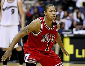 Derrick Rose - Derrick Rose during his rookie season
