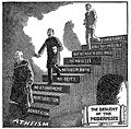 Descent of the Modernists, E. J. Pace, Christian Cartoons, 1922.jpg