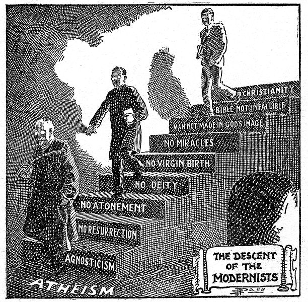 File:Descent of the Modernists, E. J. Pace, Christian Cartoons, 1922.jpg