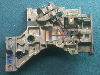 DVD recorder - Detail of DVD-RW optics