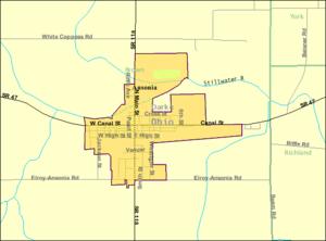 Ansonia, Ohio - Image: Detailed map of Ansonia, Ohio