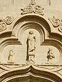 Detalle de la fachada de la Iglesia Parroquial de San Esteban , Abalos, La Rioja , España.JPG