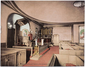 St. John's Episcopal Church (Richmond, Virginia) - Interior of St. John's as seen from Patrick Henry's pew, ca. 1901