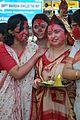 Devotees - Durga Idol Immersion Ceremony - Baja Kadamtala Ghat - Kolkata 2012-10-24 1370.JPG
