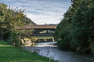Eggiwil - Dieboldswil wooden bridge over the Emme river