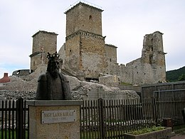 Diosgyor castle and king louis.jpg