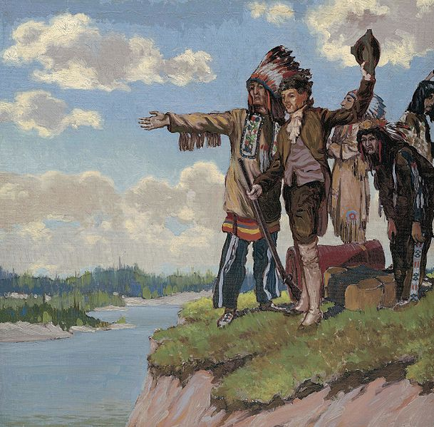 File:Discovery of Coppermine River by Samuel Hearne, 1771, by Frank Johnston, ca. 1922.jpg