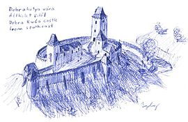 Dobra Kuca castle drawing.jpg