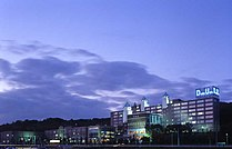 Dohto University at night.jpg