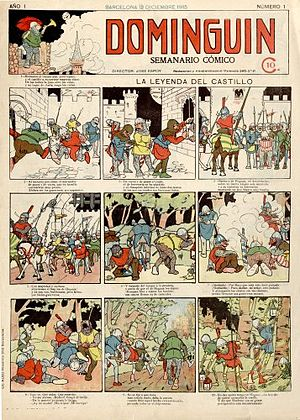 Spanish comics - First issue of ''Dominguín'' (1915)