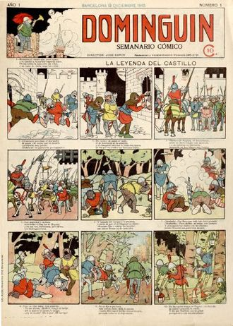 Spanish comics - First issue of Dominguín (1915)