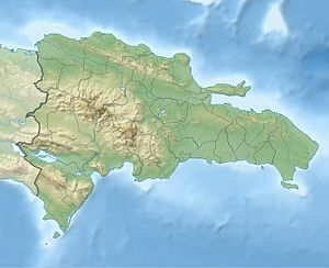 Physical Location map Dominican Republic with ...