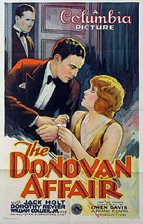 <i>The Donovan Affair</i> 1929 film by Frank Capra
